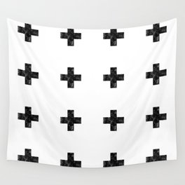 Watercolor Swiss Cross (White) Wall Tapestry
