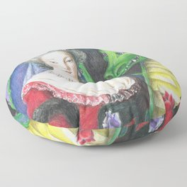 Marie Antoinette and the Dragon Floor Pillow