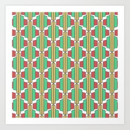 Art Deco Broach Pattern Art Print