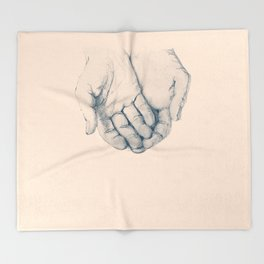 this is your hand, these are my hands, this is the world. Throw Blanket