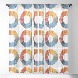 Goethe's Color Wheel (1809) Sheer Curtain