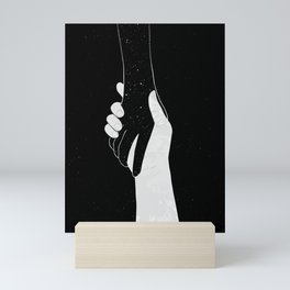 Loneliness by Line Art. Mini Art Print