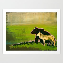 The Wolf and the Bear Art Print