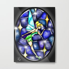Stained Glass Tink Metal Print