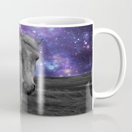 Horse Rides & Galaxy skies muted Coffee Mug
