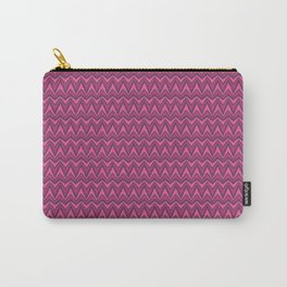 Chevron-Dark Pinkies Carry-All Pouch
