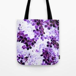 Invert Clematis Design Tote Bag
