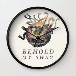 Beholder (Typography) Wall Clock