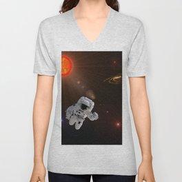 Astronaut Sun Stars Unisex V-Neck