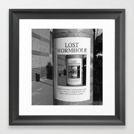 Lost Wormhole Framed Art Print