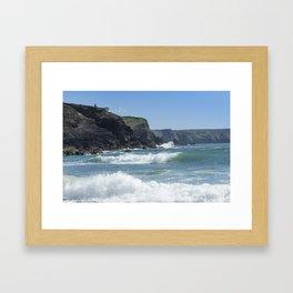 White Surf 01 Framed Art Print