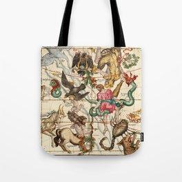Hercules, Sagittarius, Delphinus, Scorpius, Caper, Lyra, Olor And Other Constellations Tote Bag
