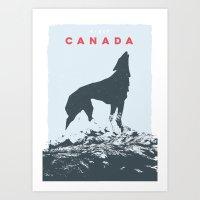 Visit Canada Art Print