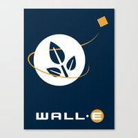 wall e Canvas Prints featuring Wall • E by Citron Vert