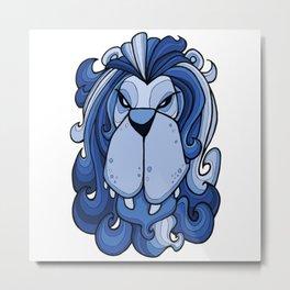 Lion - Little Boy Blue Metal Print