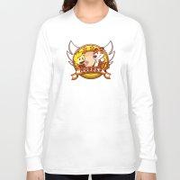 calvin and hobbes Long Sleeve T-shirts featuring Calvin and Hobbes: Hobbes The Stuffed Tiger by Macaluso