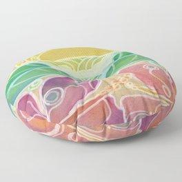 Double Hibiscus Surf Art by Lauren Tannehill Art Floor Pillow