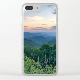 Blue Ridge Parkway 3 Clear iPhone Case