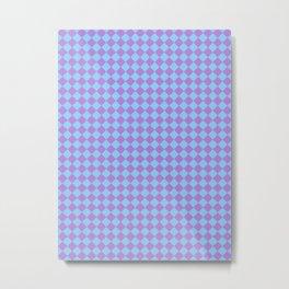 Lavender Violet and Baby Blue Diamonds Metal Print
