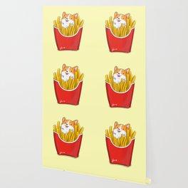 French Corgi Fries Wallpaper
