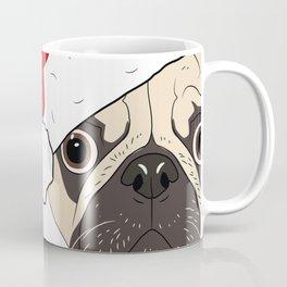Christmas pug, festive dog vector Coffee Mug