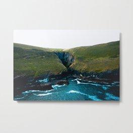 Cornish Cliff Metal Print