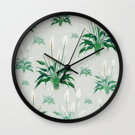 peace lily painting Wall Clock