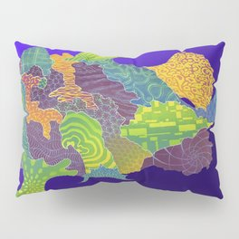 Frogfish Relief Print Pillow Sham