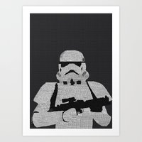stormtrooper Art Prints featuring Stormtrooper by  Steve Wade ( Swade)