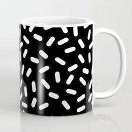Bingo - black and white sprinkle retro modern pattern print monochromatic trendy hipster 80s style Coffee Mug