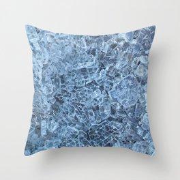 Broken Glass Abstract Pattern Throw Pillow