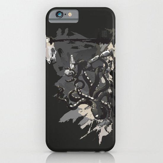 Octopus Wrestling with a Robot iPhone & iPod Case