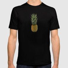 Pineapple Black MEDIUM Mens Fitted Tee