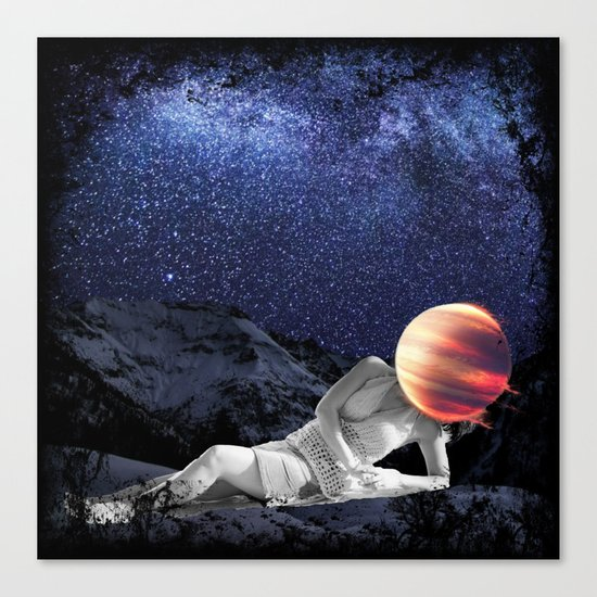 The Universe Girl Canvas Print