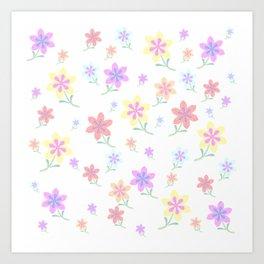 Watercolor Flower Garden Art Print