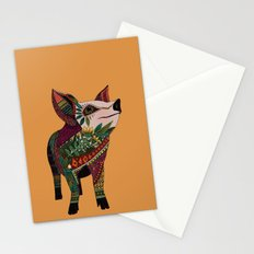 pig love amber Stationery Cards