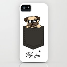 Pug Love Pocket iPhone Case