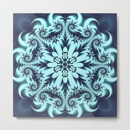 The Blue Snowflake I Metal Print