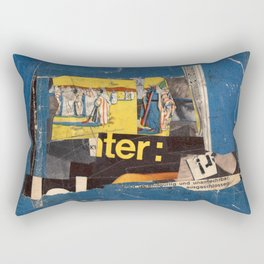 fundamental blue Rectangular Pillow