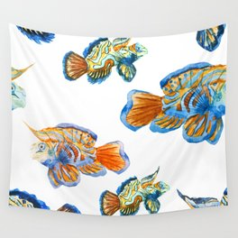 Fish Pattern 04 Wall Tapestry
