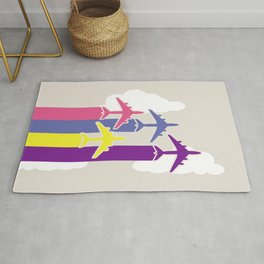 Colorful airplanes Rug