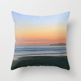 Sunset at Stinson Beach. Throw Pillow