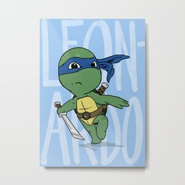 TMNT: Leonardo (Cute & Dangerous) Metal Print