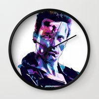 arnold Wall Clocks featuring Arnold Schwarzenegger: BAD ACTORS by mergedvisible