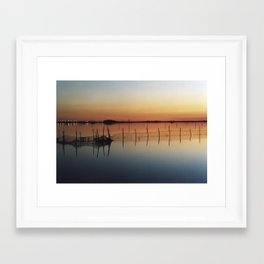Sunset in Venice Lagoon #2 Framed Art Print