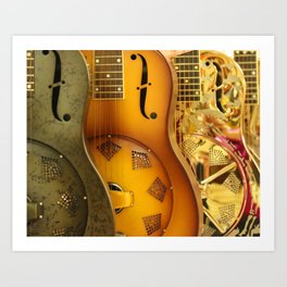 Guitar Trio Art Print