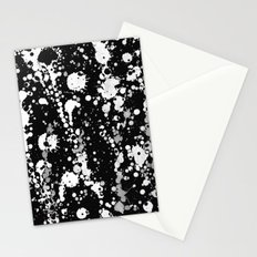 Splatter Black and White Stationery Cards