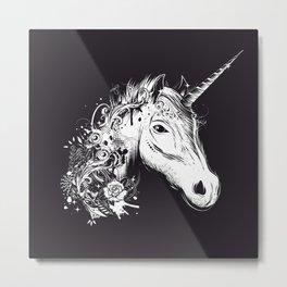 Head of a unicorn Metal Print