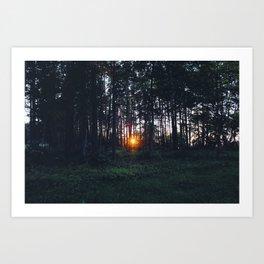 Glimmer of Hope #Sunset Art Print