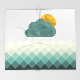 Sea Polygons Throw Blanket